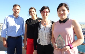 The Intercruises Barcelona team that helped make the award winning tour a reality (L-R: Christian Bove, Anais Colom, Amara Fernandez, Stephanie Helbig)